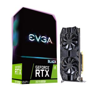 EVGA GeForce RTX2070 SUPER BLACK GAMING 8GB GDDR6 256Bit Nvidia DX12 Ekran Kartı