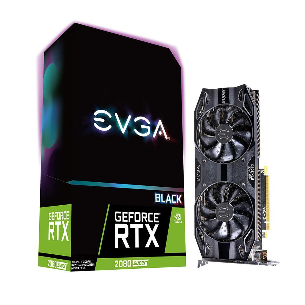 EVGA GeForce RTX2080 SUPER BLACK GAMING 8GB GDDR6 256Bit Nvidia DX12 Ekran Kartı