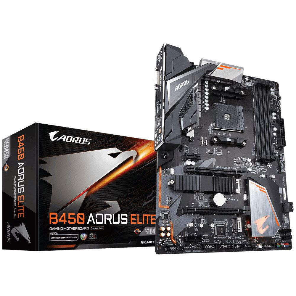 GIGABYTE B450 AORUS ELITE AMD B450 Socket AM4 DDR4 3600+MHz(OC) USB 3.1 Anakart