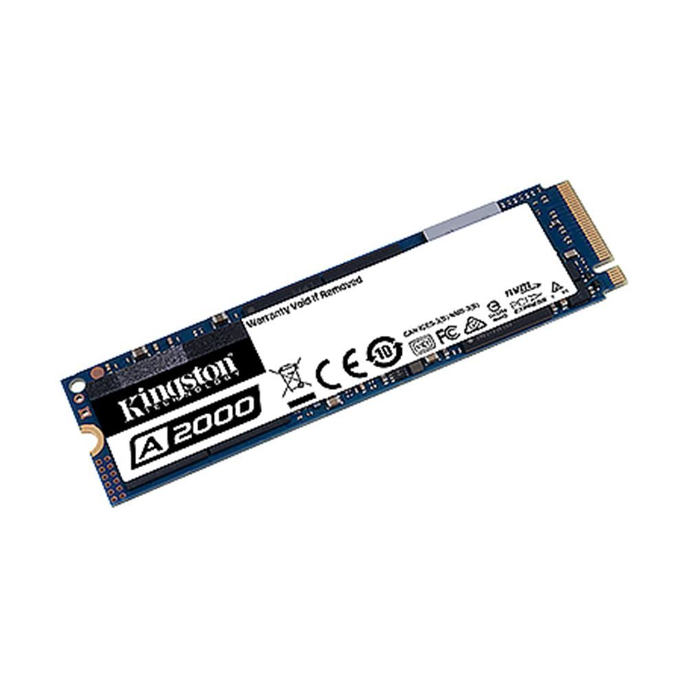 Kingston 250GB A2000 Serisi NVMe M.2 SSD (Okuma 2000MB / Yazma 1100MB)