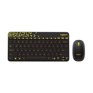 LOGITECH MK240 KABLOSUZ KLAVYE MOUSE SET YELLOW BLACK