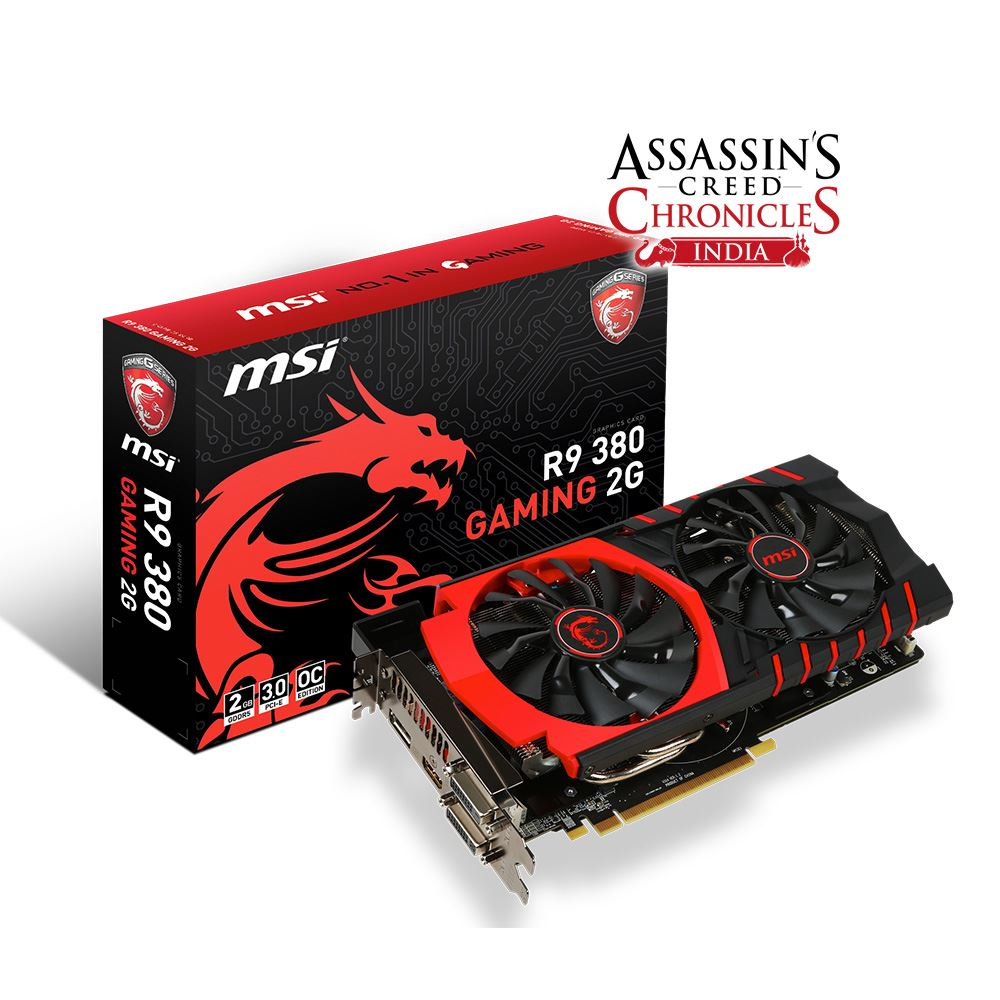 MSI R9 380 GAMING 2GB GDDR5 256Bit AMD Radeon DX12 Ekran Kartı
