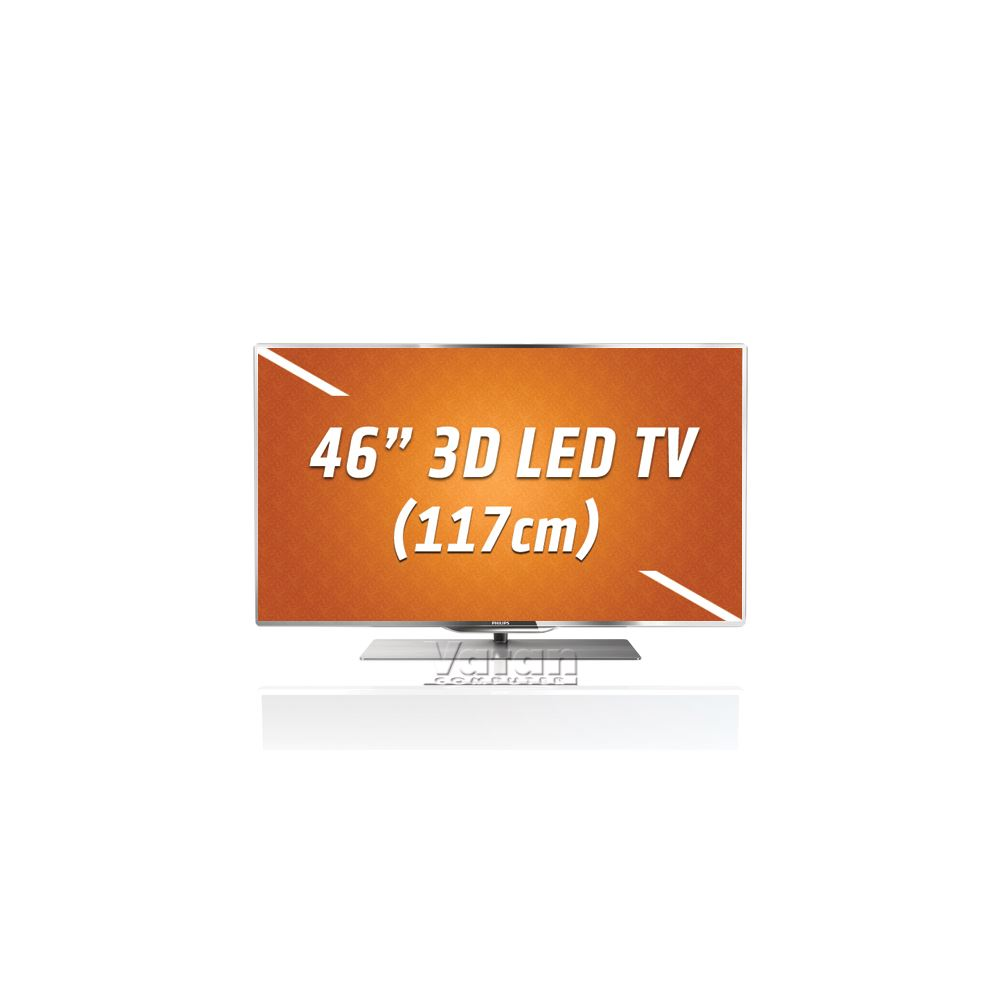 46PFL7007 3D LED Smart TV,117 cm,PMR 800 Hz,Wİ-Fİ,2D/3D ÇEVİRME