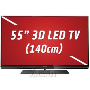 PHILIPS 55PFL6007K 3D Smart Led TV,140 cm,Ambilight,Dahili Uydu,2D/3D ÇEVİRME