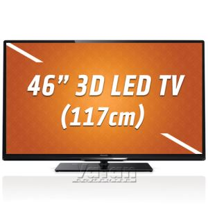 "PHILIPS 46PFL4308K 46"" 117 CM 3D LED TV, 200 HZ, DAHİLİ UYDU, 3XHDMI, USB MOVIE"