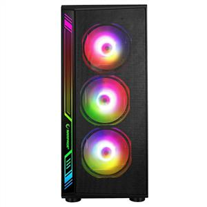RAMPAGE RAMPART RGB MESH 600W 80 PLUS BRONZE 4x120mm RAINBOW FANLI USB 3.0 KASA