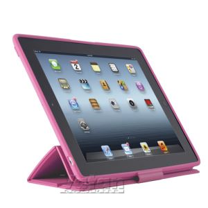 13633 PİXELSKİN THE NEW İPAD KILIF VE STAND- (SAKIZ PEMBESİ)