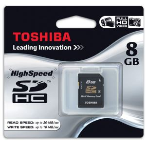 TOSHIBA 8 GB SDHC CLASS-4 HIGH SPEED CARD-BLISTER HAFIZA KARTI