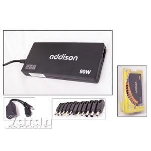 Addison NB-AD90SLIM 90W Notebook Universal Slim Adaptör