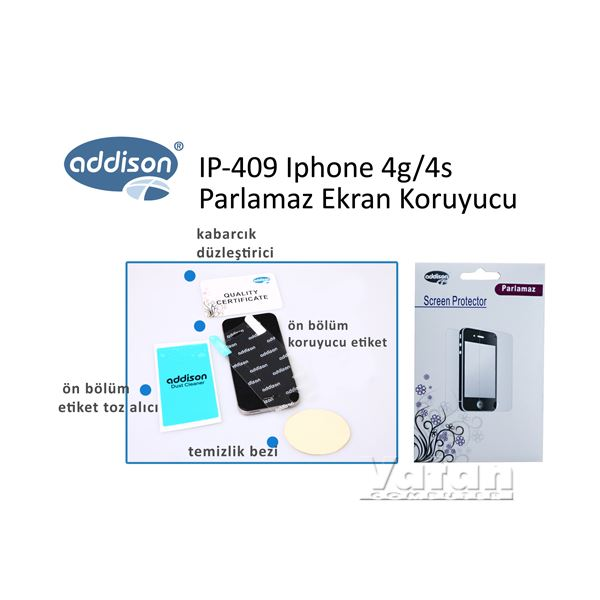 IP-409 IPHONE 4/4S EKRAN KORUYUCU (PARLAMAZ)