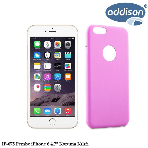 ADDISON IP-675 IPHONE 6 KORUMA KILIFI PEMBE