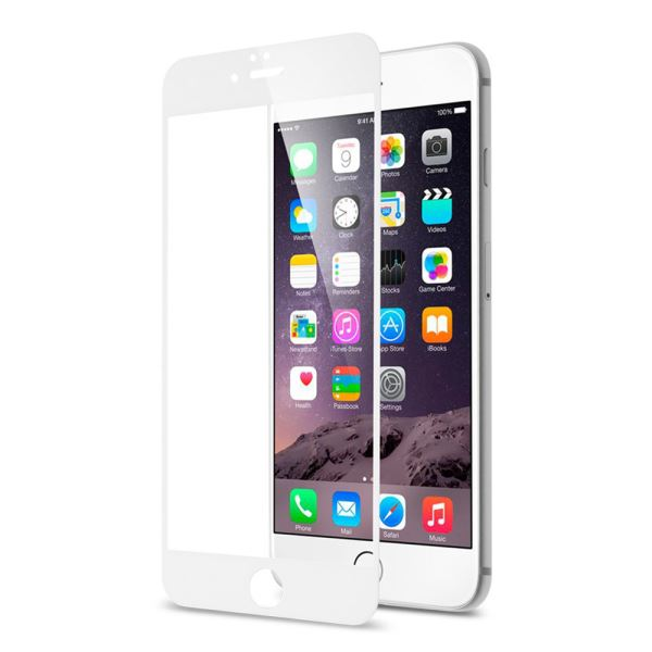 ADDİSON IP-854 TEMPERED GLASS 0.3MM BEYAZ İPHONE 6S PLUS FULL COVER CAM EKRAN KO