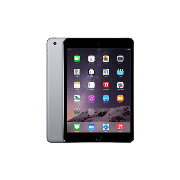 Ipad Mini3 64GB WIFI+4G-SpaceGray-7.9Retina-Bluetooth-10Saate KadarPil Ömrü341Gr