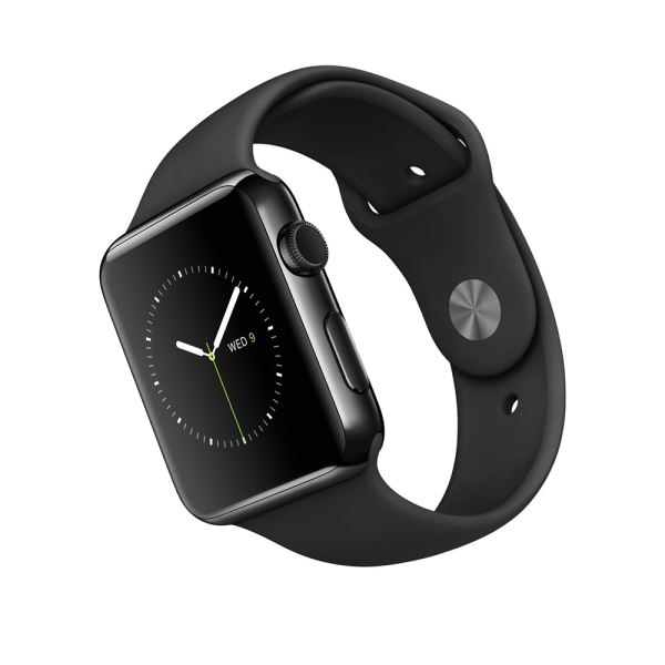 Apple Watch 42mm Space Black Stainless Steel Case with Black Sport Band Demo