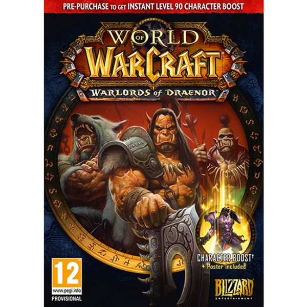PC WOW WARLORDS OF DRAENOR PRE SELL BOX
