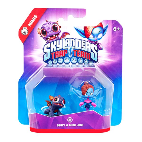 SKYLANDERS TRAP TEAM MINI MINI JINI+SPRY