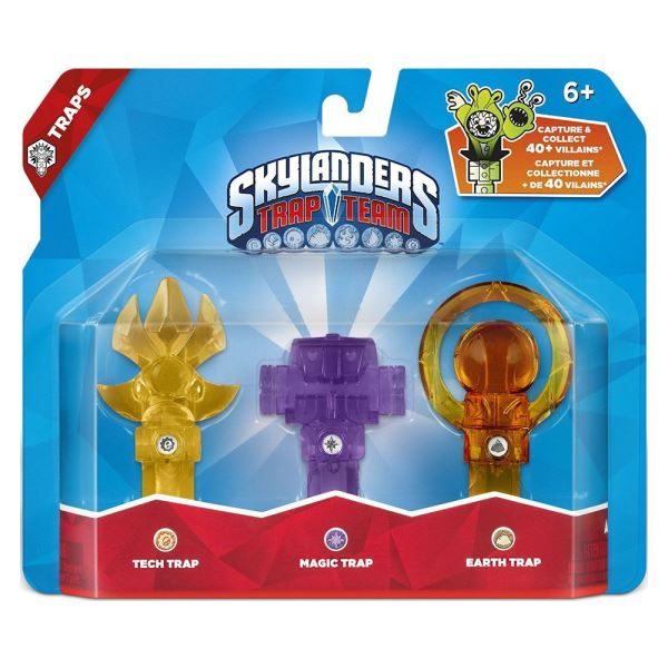 SKYLANDERS TRAP TEAM 3LU TUZAK TECH+MAGIC+EARTH