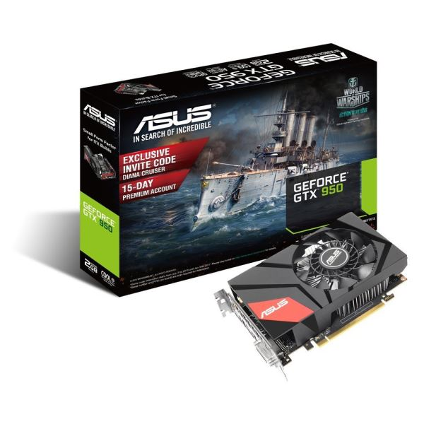 ASUS GeForce MINI GTX950 GDDR5 2GB 128Bit NVIDIA DX12 Ekran Kartı