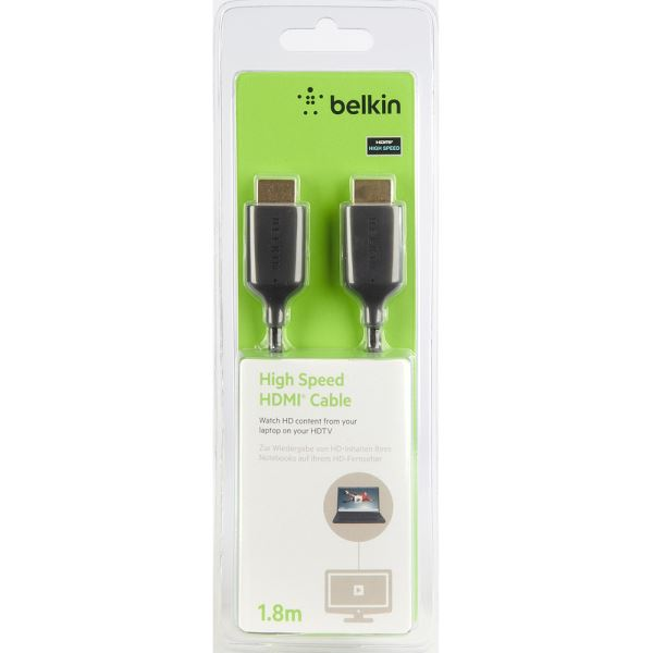 BELKIN GOLD 1.8 METRE HDMI TO HDMI ULTRA THIN ,HIGH SPEED,1.4 KABLO