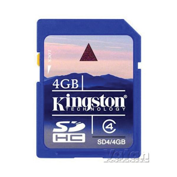 KINGSTON 4 GB SDHC CLASS4 SECURE DIJITAL KART