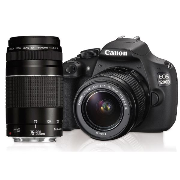 CANON 1200D 18-55/75-300 18 MP 3
