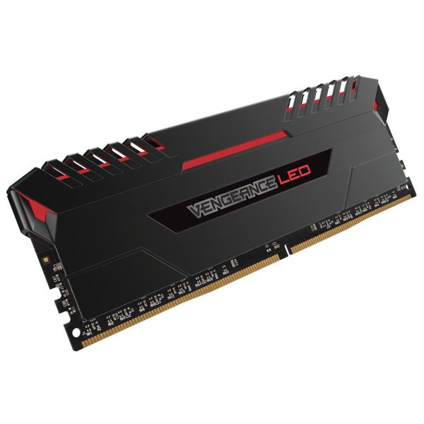 CORSAIR 16GB (2x8GB) VENGEANCE LED Kırmızı DDR4 3000Mhz CL15 Dual Kit Ram