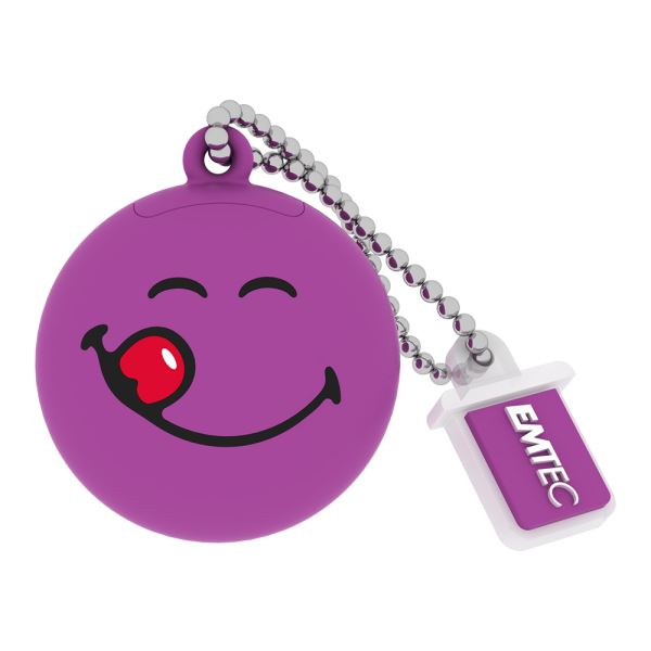 EMTEC 8GB Smiley World Purple USB 2.0 Bellek