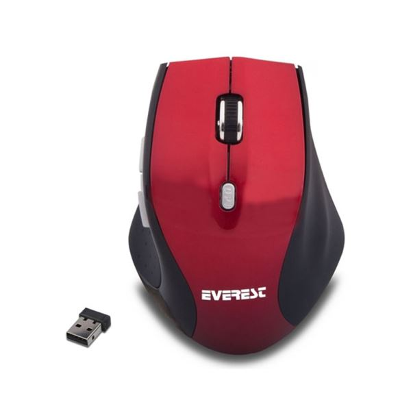 EVEREST SM-186R KABLOSUZ NOTEBOOK MOUSE NANO - KIRMIZI