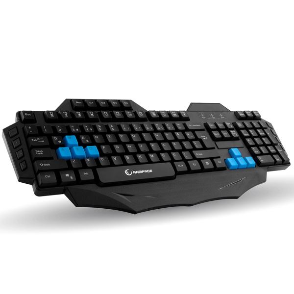 EVEREST Rampage KB-R01 Makrolu Gaming Multimedia Klavye Siyah