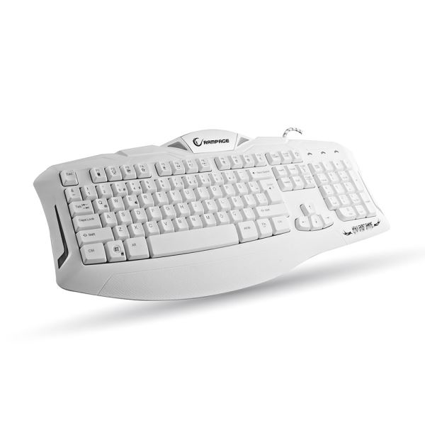 EVEREST RAMPAGE KM-R5 Ledli Gaming Klavye Mouse Set Beyaz