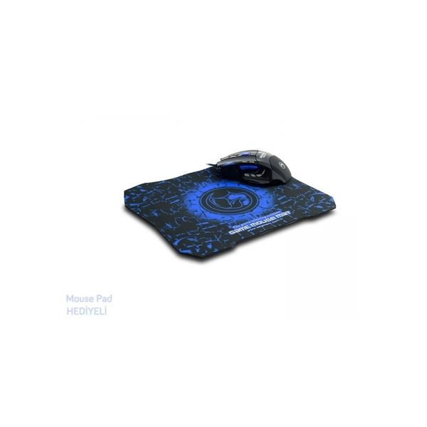 EVEREST SGM-X7B MOUSE+MOUSE PAD - MAVİ
