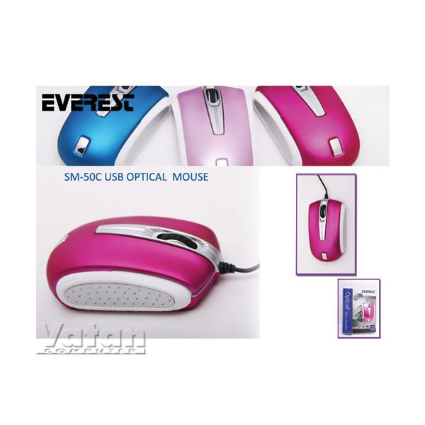 SM-50C OPTİK NOTEBOOK MOUSE KOYU PEMBE
