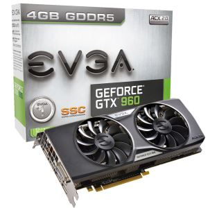 Evga GTX960 SuperSC ACX 2.0+ GDDR5 4GB 128Bit DX12 Nvidia GeForce Ekran Kartı