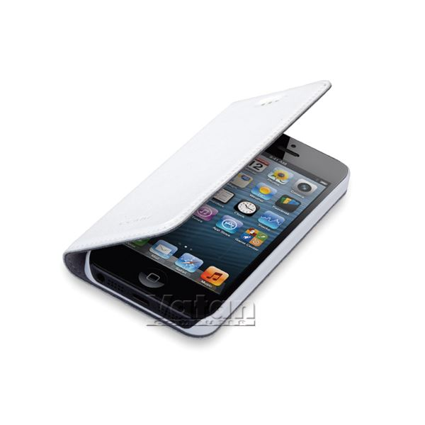 KİSS IPHONE 5 DERİ KILIF- (BEYAZ)