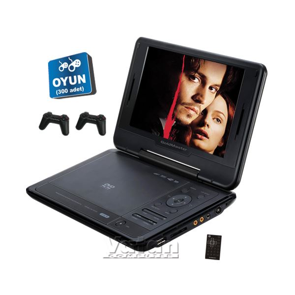 GOLDMASTER PD-960 - Portable  9'' TV li  ( 300 Oyun + 2 Konsol hediye)