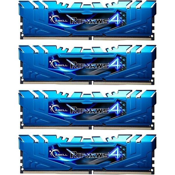 GSKILL 32GB (4x8GB) Ripjaws4 Mavi DDR4 2400MHz CL15 1.2V Ouad Kit Ram