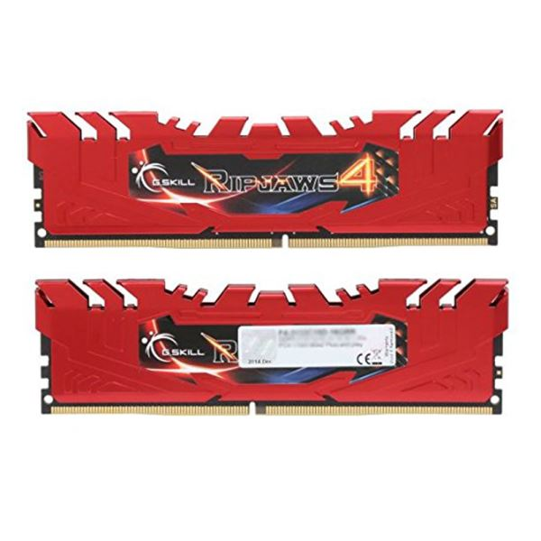 GSKILL 8GB Ripjaws4 Kırmızı DDR4 2400MHz CL15 1.2V Single Ram