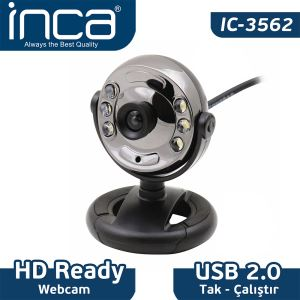 INCA IC-3562 IŞIKLI 6MP WEBCAM