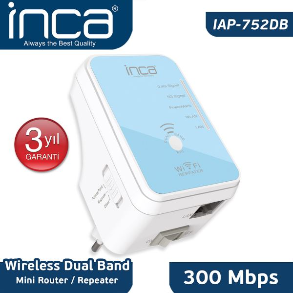 IAP-752DB 300MBPS 5 GHz DUALBAND MİNİ ROUTER/UNIVERSAL REPEATER