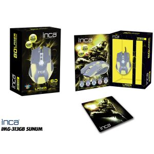 INCA IMG-313GB LASER GAMING MOUSE+ GAMING MOUSEPAD