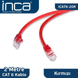 INCA CAT6 26 AVG BLİSTER 2M- (KIRMIZI)