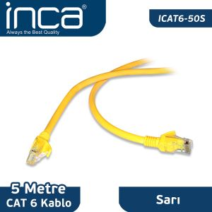 INCA CAT6 26 AVG BLİSTER 5M- (SARI)