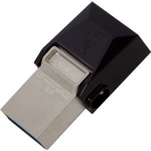 KINGSTON 64GB DataTraveler MicroDuo USB 3.0 OTG USB Bellek