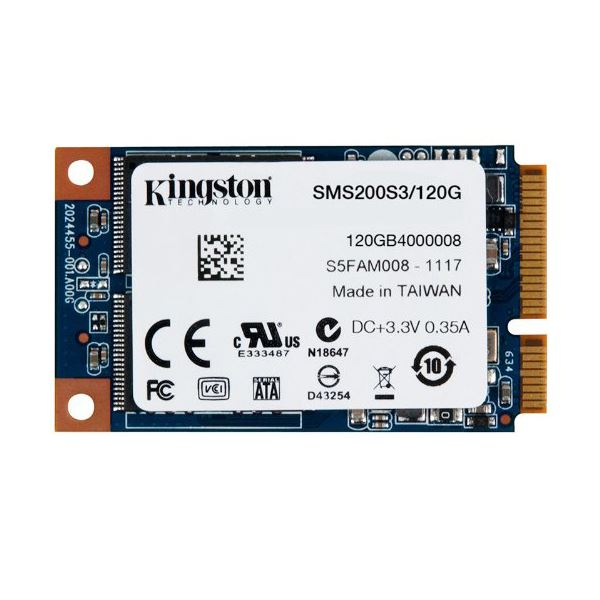 Kingston 120GB mSata SSD (Okuma Hızı 550MB / Yazma Hızı 520MB)