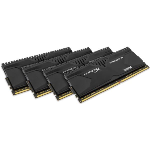 Kingston 16GB (4x4GB) HyperX Predator DDR4 2666MHz CL13 1.35V XMP Ram