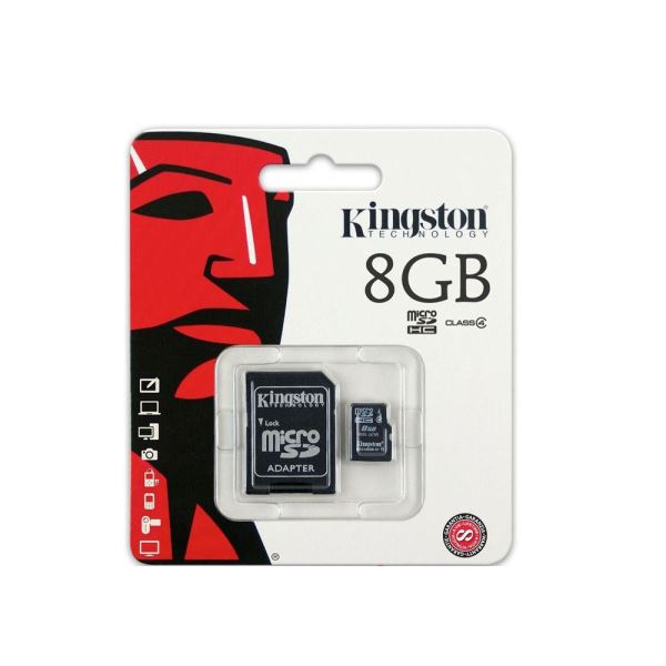 KINGSTON 8GB MICRO SDHC CLASS4 HAFIZA KARTI