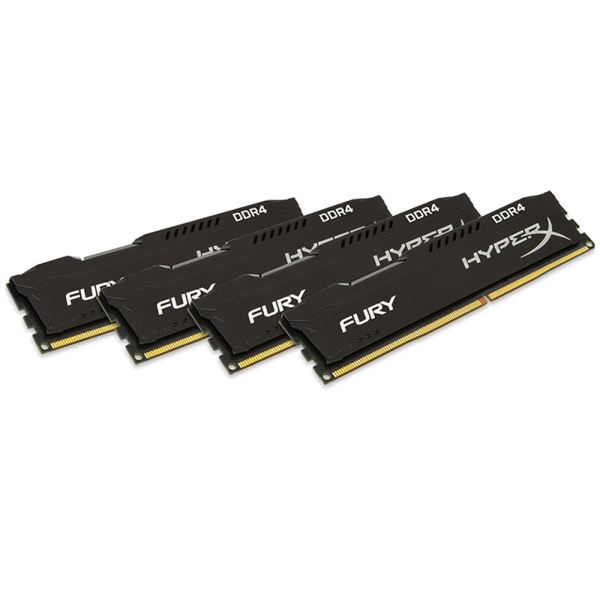 Kingston 16GB (4x4GB) HyperX FURY Black Series DDR4 2400MHz CL15 1.2V XMP Ram