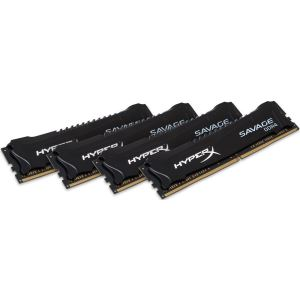 Kingston 32GB (4x8GB) HyperX SAVAGE Black DDR4 3000MHz CL15 1.35V XMP Ram