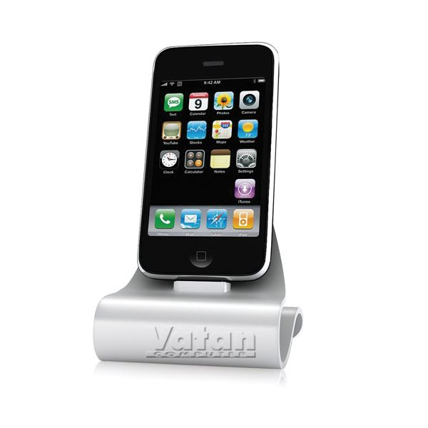 KN-8267 iCrado PLUS IPHONE 4/4S DOCK STATION- (GÜMÜŞ)