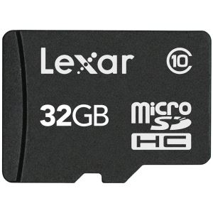 LEXAR 32GB microSDHC with Adapter Class 10
